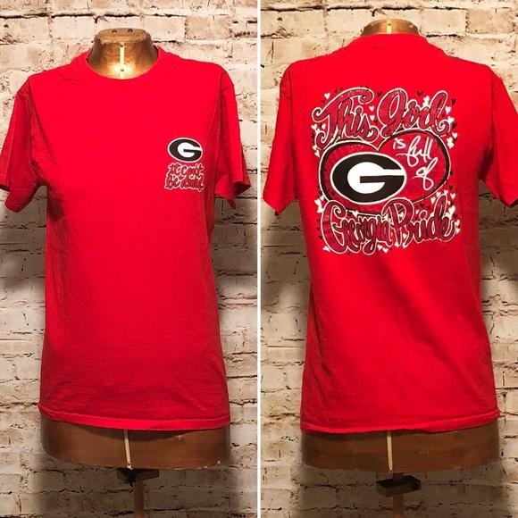 UGA University if Georgia Bulldogs Glitter T-Shirt.  M 5a82caa63800c57bc8160288 bfd4ba359
